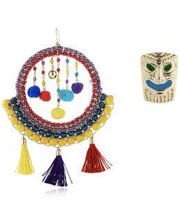 Merida Tassel & Pompom Earrings