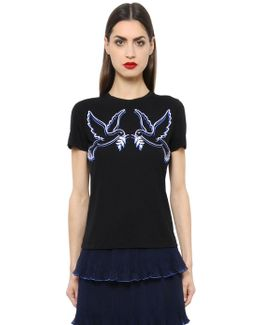 Iven Doves Embroidered Jersey T-shirt