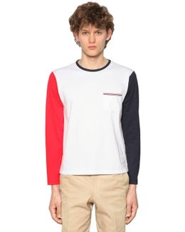 Color Block Jersey Long Sleeve T-shirt