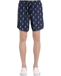 Bolts Printed Nylon Swim Shorts