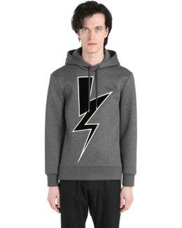 Velvet Bolt Hooded Neoprene Sweatshirt