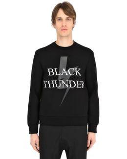 Thunder Bolt Printed Neoprene Sweatshirt