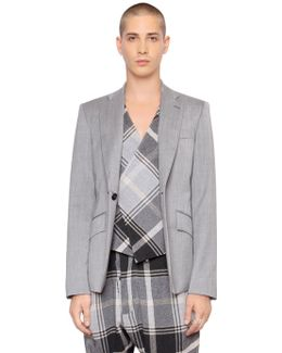 Suiting Wool Jacket W/ Plaid Vest