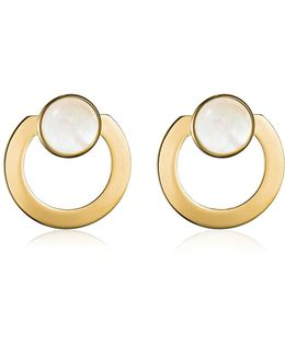 Moneta Open Mother Of Pearl Earrings