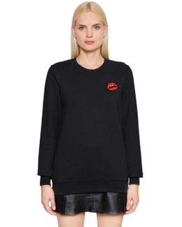 Patch Lips Cotton Sweatshirt