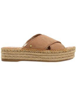 40mm Natty Suede Platform Sandals