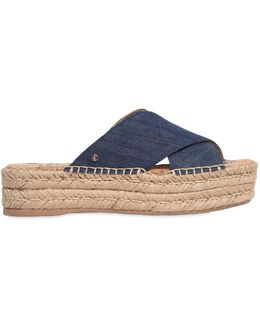 40mm Natty Denim Platform Sandals