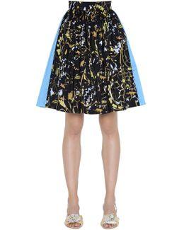 Taffeta & Jacquard Mini Skirt W/ Lurex