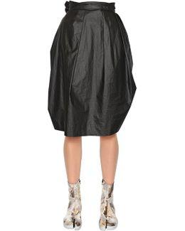 Cotton Poplin Balloon Skirt