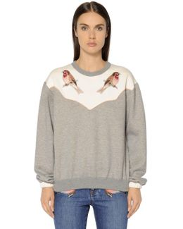 Embroidered Cotton Jersey Sweatshirt