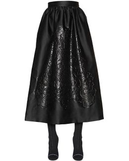 Embossed Duchesse Satin Skirt