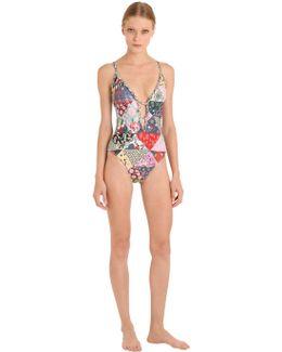 Macramé Lace Back One Piece Swimsuit