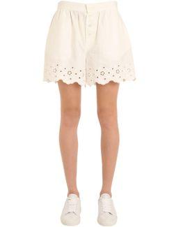 Cotton Eyelet Shorts