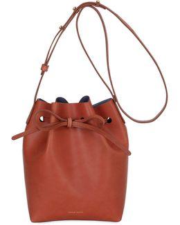 Mini Vegetable Tanned Leather Bucket Bag