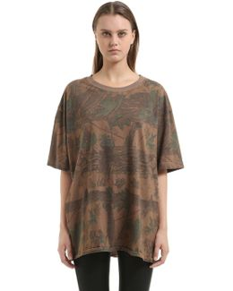 Forest Printed Cotton Jersey T-shirt