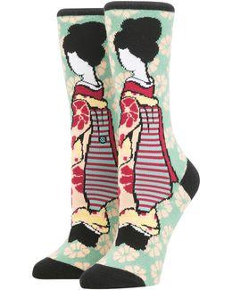 Geisha Tomboy Cotton Blend Socks