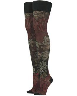 Lotus Thigh High Stockings