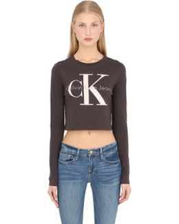 True Icon Cropped Long Sleeve T-shirt