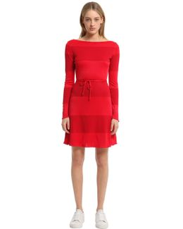 Cotton Blend Interlock Dress Gigi Hadid