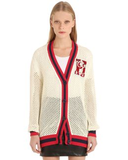 Cotton Mesh Cardigan Gigi Hadid