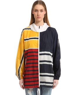 Patchwork Stripe Jacket Gigi Hadid