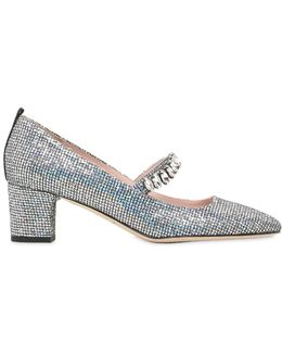 50mm Dazzle Glittered Mary Jane Pumps