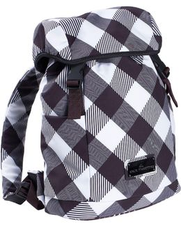 Plaid Printed Nylon Backpack