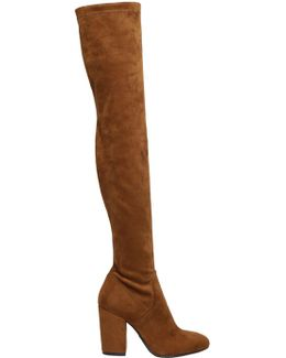 90mm Stretch Faux Suede Boots