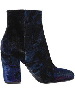 90mm Velvet Ankle Boots