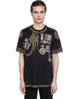 Military Printed Cotton Jersey T-shirt