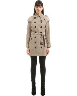 Hooded Nylon Trench Coat