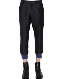 15.5cm Hockney Wool Blend Pants W/ Denim