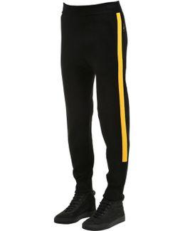 Viscose Blend Jersey Pants W/ Side Bands