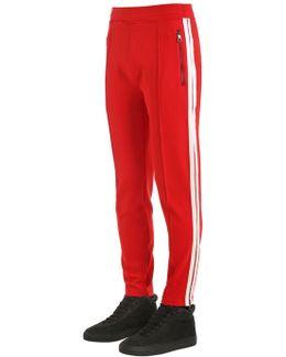 Stretch Nylon Pants W/ Side Bands