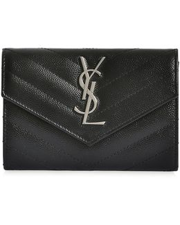 Small Monogram Quilted Leather Wallet