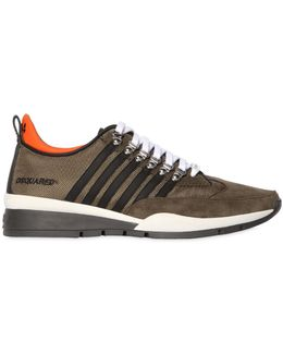 251 Striped Nylon & Suede Sneakers