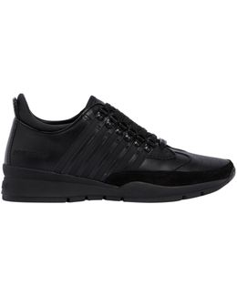 251 Striped Leather Sneakers