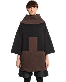 Geometric Wool Blend Knit Sweater
