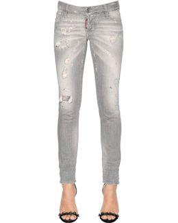 Jennifer Destroyed Cropped Denim Jeans