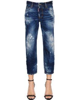 Destroyed Tomboy Cropped Denim Jeans