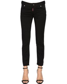 Medium Waist Cropped Twiggy Denim Jeans