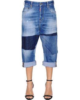 Dark Knee Kawaii Denim Jeans