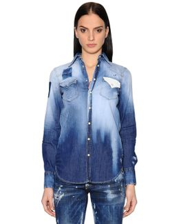 Fade Out Cotton Denim Shirt