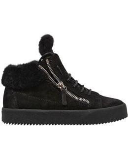 20mm Sherling & Suede Sneakers