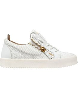 20mm Embossed Leather Sneakers