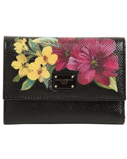 Small Floral Embossed Leather Wallet