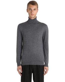 Turtle Neck Wool Blend Sweater