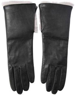 Nappa Leather Gloves W/rabbit Fur