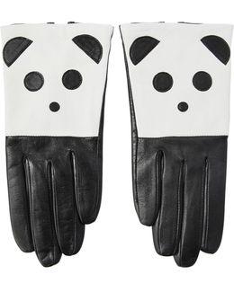 Panda Nappa Leather Gloves