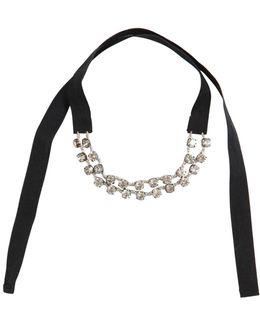 Crystal Velvet Choker Necklace